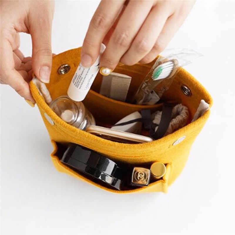 Портативный Модный женский портативный войлочный тканевый вкладыш сумка с кошельком органайзер для девочек женская косметичка для путешествий сумка