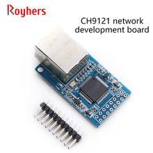 Porta serial ao módulo ethernet ch9121 placa de desenvolvimento de rede servidor de porta serial única microcomputador módulo de rede