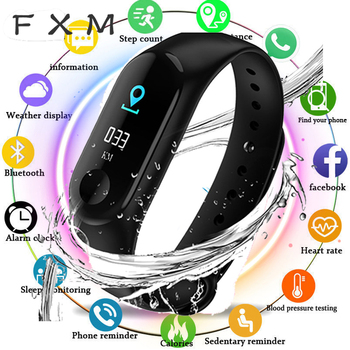 Men Women Smart Wristband Color Screen Band IP67 Waterproof Blood Pressure Heart Rate Activity Fitness Bracelet Gift