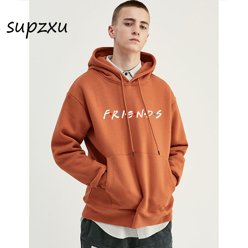 2019 Friends Tv Show Logo Letter Alphabet Couple Clothes Boys Man Male Autumn Winter Fleece Hoodies Hip Hop Sweatshirts Hoodie