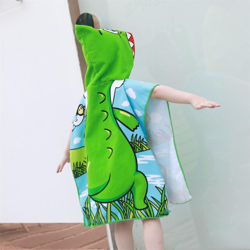 2021 New Children'S Swimwear Beach Towel Cartoon Printing Cute Shawl Towel Boys And Girls Swimwear Summer Fashion Casual Hooded