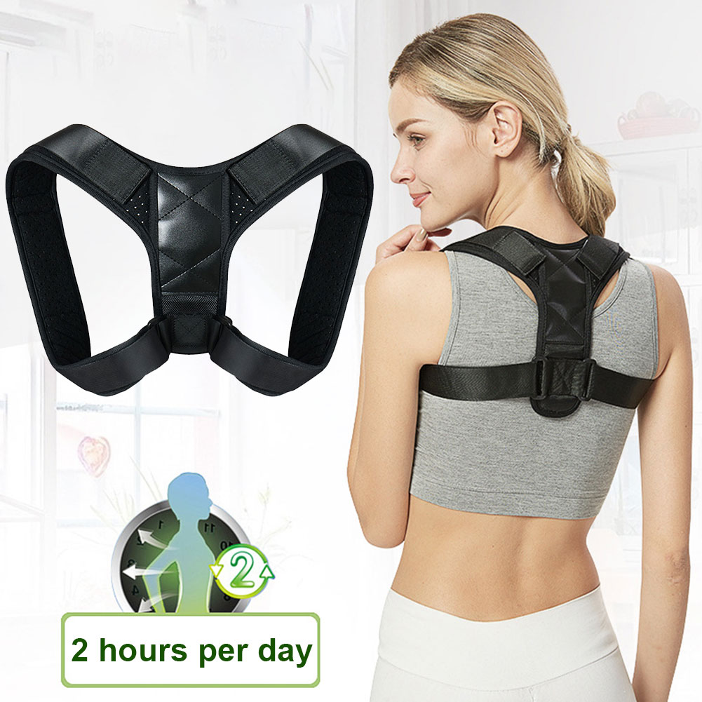 Unisex Hunchback Breathable Orthotics Lumbar Clavicle Back Brace Adjustable Belt Posture Corrector Cross Adult Neck Pain Relief