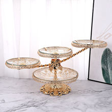 Coffee table creative fruit plate light luxury tempered glass