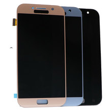 Suitable for Samsung Galaxy A5 2017 A520F SM-A520F A520 LCD touch screen digitizer component with brightness adjustment super amoled a520 lcd for samsung galaxy a5 2017 a520f a520f ds a520k sm a520f display touch screen digitizer assembly lcd parts