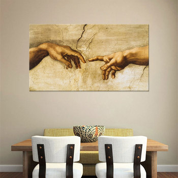 Modern Frameless Canvas Wall Art Decorative Painting Core Western Classical Paintings Genesis Art Mural image