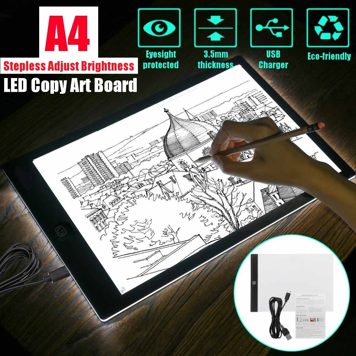 Promote`Pad Light-Box Drawing-Tablet Painting Copy-Board Artcraft Animation Digital Tracing Sketchingä