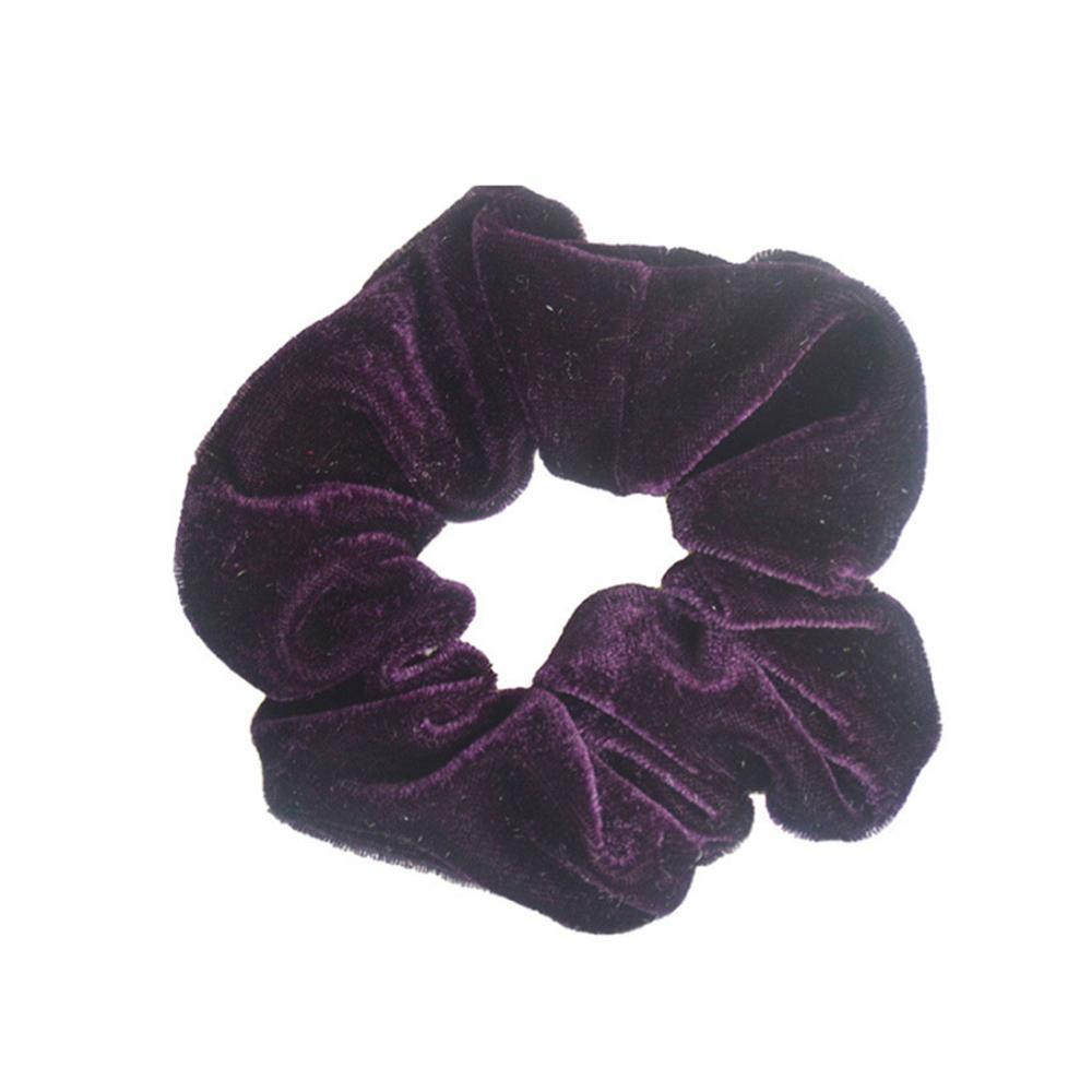 1 шт., женское эластичное кольцо для волос, зимние мягкие бархатные резинки, резинки для волос, милые одноцветные аксессуары для волос, держатель для конского хвоста - Цвет: 3