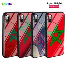 Black Cover MA Maroc Morocco Flag for iPhone X XR XS Max for iPhone 8 7 6 6S Plus 5S 5 SE Super Bright Glossy Phone Case black cover japanese samurai for iphone x xr xs max for iphone 8 7 6 6s plus 5s 5 se super bright glossy phone case