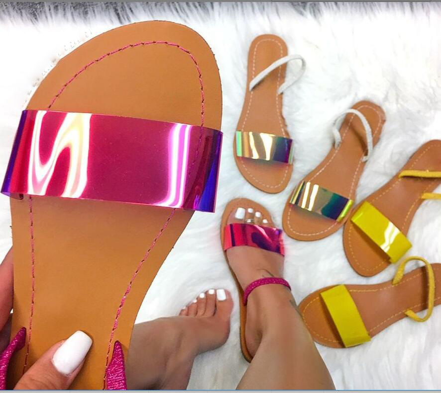 New women/'s shoes fashion jelly sandals t strap casual summer orange red