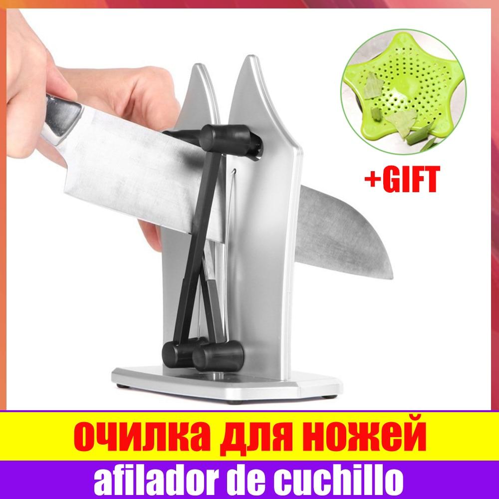 Knife Sharpener Professional Elastic Spring Kitchen Grinder Sharpener Non-slip Tungsten Carbide Kitchen Knife Sharpener Tool