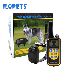 800m Electric Dog Training Collar Remote Control Waterproof Rechargeable with LCD Display for All Size Shock Vibration Sound