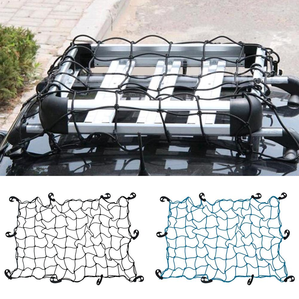 Large Elastic Car Cargo Tidys Net Storage Boot Net Fixing Points Saftey 120 X90cm Organizer Trailer Roof Rack Boot Bungee Cord