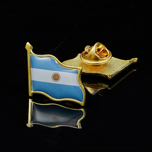 Argentina Flag Pin Brooch Metal National Waving Badge Lapel Pin Suit&Travel Bags Accessories czech republic national waving metal lapel flag pin brooch badge for costume accessories