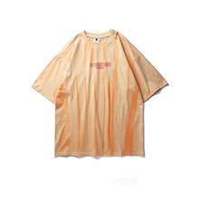 Retro Harajuku Streetwear T Shirt mężczyźni Hip Hop T Shirt Oversize luźne lato T-Shirt bawełniany T-Shirt na co dzień projektowanie mody tanie tanio Krótki O-neck Topy Tees Regular Suknem COTTON Tie-Dye Good Quality Fast Shipping Free Shipping Men Women Soft Comfortable Fit Good