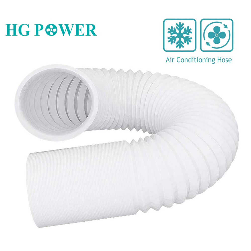 4-6'' Plastic Air Conditioner Pipe Hose Air Exhaust Flexible Steel Ducting Tube for Inline Fan Home Ventilation Air Fresh System