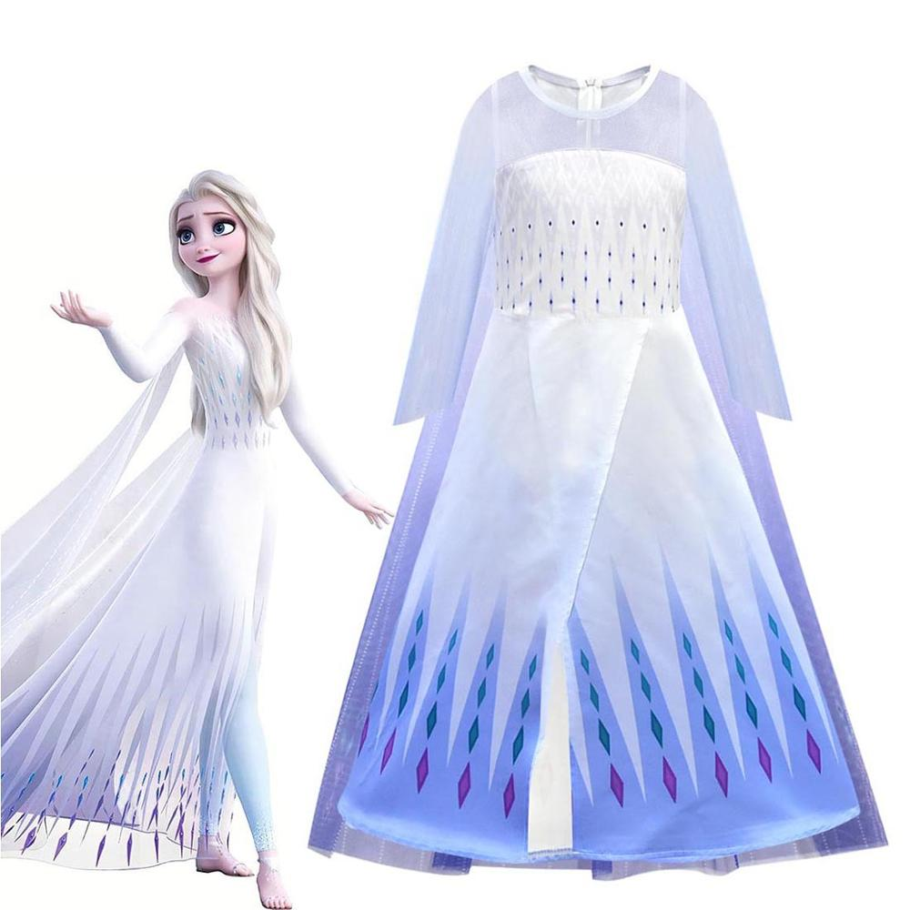 Girls Dresses Frozen2 Dress 3-10 Years Cosplay Princess Dress Children Clothing Kids Vestidos Anna Elsa 2 Carnival Costume