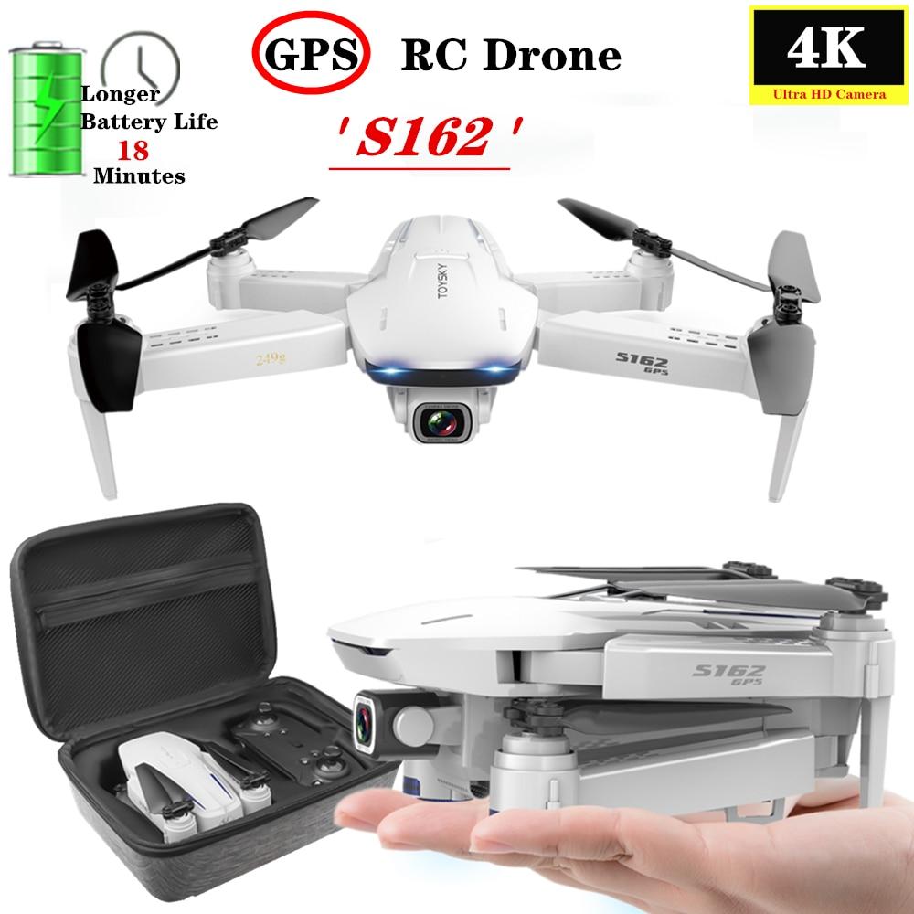 GPS Drone 4K Kamera 5G WIFI FPV Smart Folgen Professionelle Selfie Folding Quadcopter Fly 18mins 600 meter Mini drone VS XS812