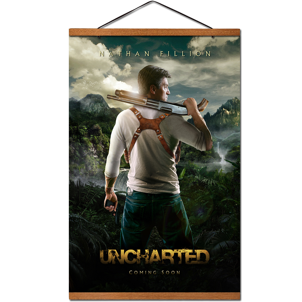Uncharted Movie Poster Modern Decorative Hanging Scroll Canvas