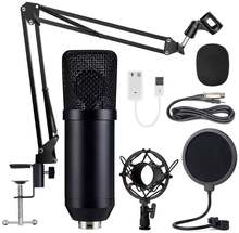 Конденсаторный микрофон bm 700 проводной с подставкой черный