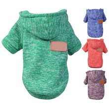 New Winter Warm Knitted Coat Pet Dog Hoodies Soft Pet Dog Cl