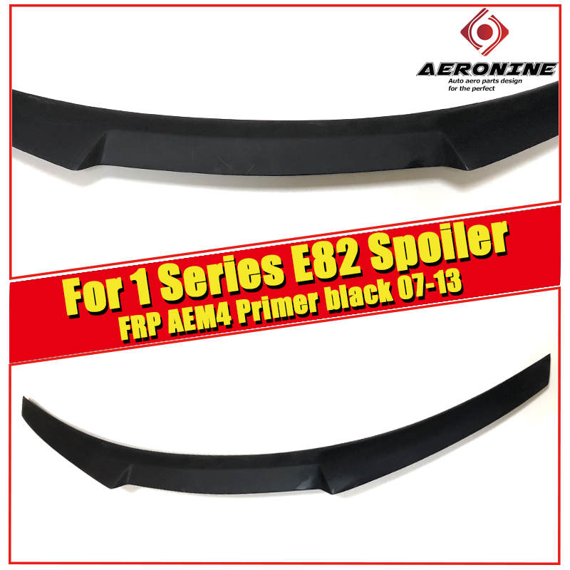 E82 M4 style Trunk Spoiler Wing FRP Unpainted For BMW 1 series 118i 120i 125i 128i 130i High Kick Big wing rear spoiler 2007 13 in Spoilers Wings from Automobiles Motorcycles