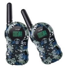 Caroger 2pcs Walkie Talkies 22/8 Channel Two Way Radio 2 Miles Range Handheld Interphone camouflage FRS/GMRS 462/467/446 MHZ