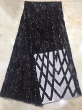 Hot Sale African Organza Lace Fabric High Quaity 3d Sequins Embroidery Tulle For Party  DYS252