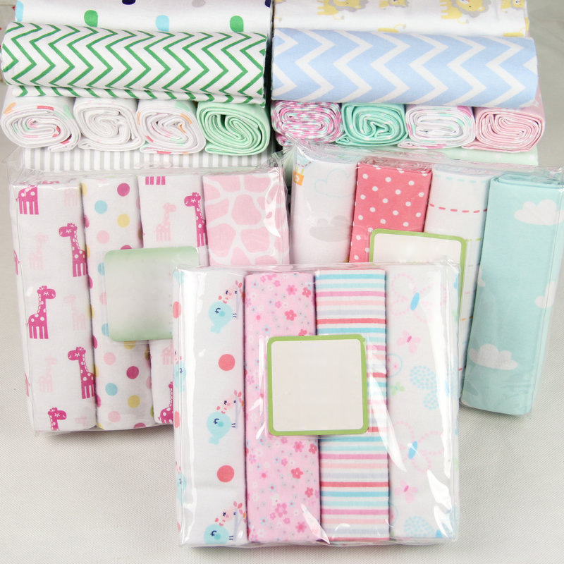 4Pcs/Lot Muslin 100% Cotton Baby Bed Sheet Baby Swaddles Soft  Newborns Blankets Blankets Muslin Diapers Swaddle Bed Wrap Sheet
