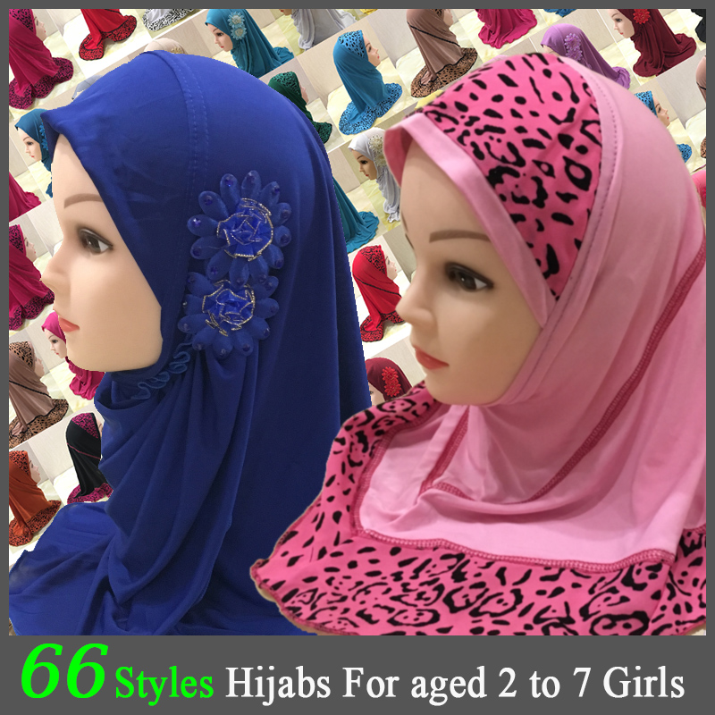 Kids Hijab For Muslim Girl Child Islam Children Jersey Instant Bonnet Hijaab Caps Islamic Clothing Scarf Chiffon Headscarf Hizab