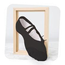 Ushine черный холщовые тапочки indoor тренировок мягкие балетки