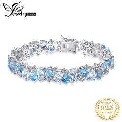 HUGE 23ct Natural London Blue Topaz 925 Sterling Silver Bracelet Tennis Gemstones Bracelets For Women Silver 925 Jewelry Making