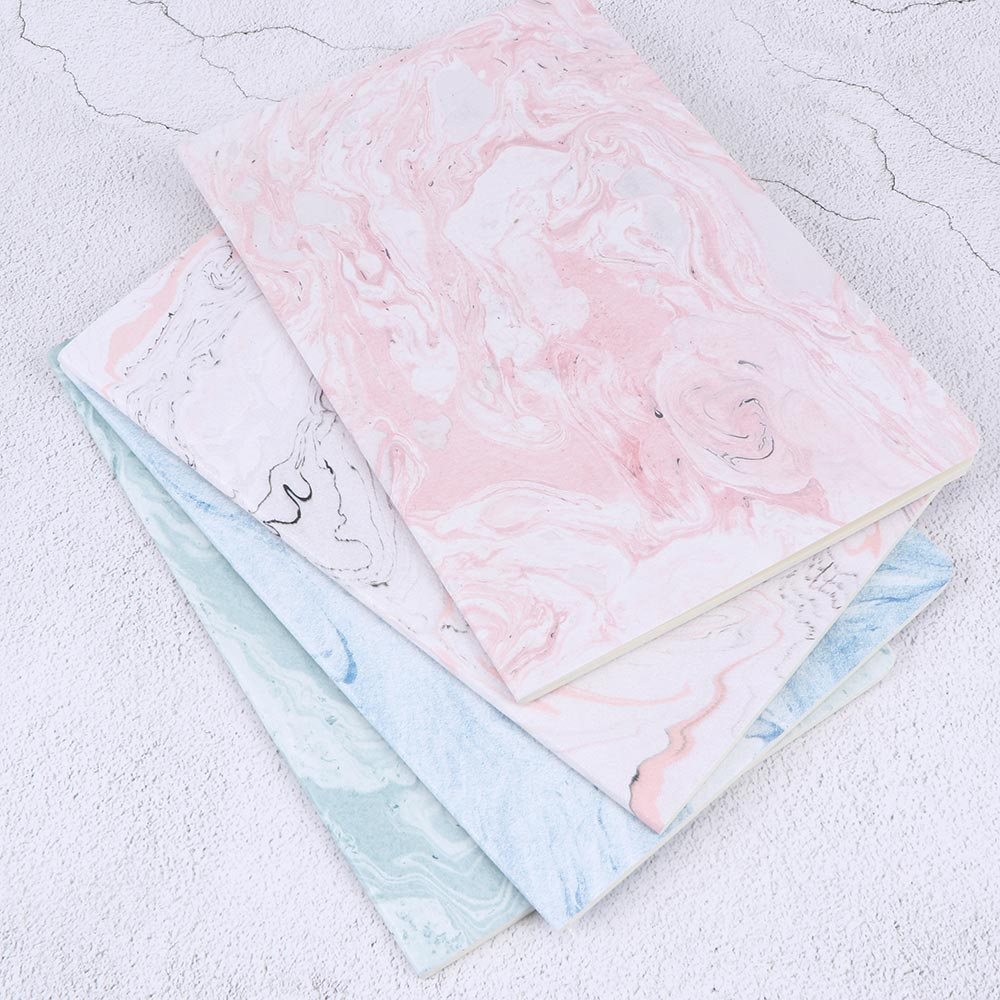 A5 Cute Pink Notebook Elegant Marble Lined Paper Notepad Journals Diary Cute Stationery Office School Supplies
