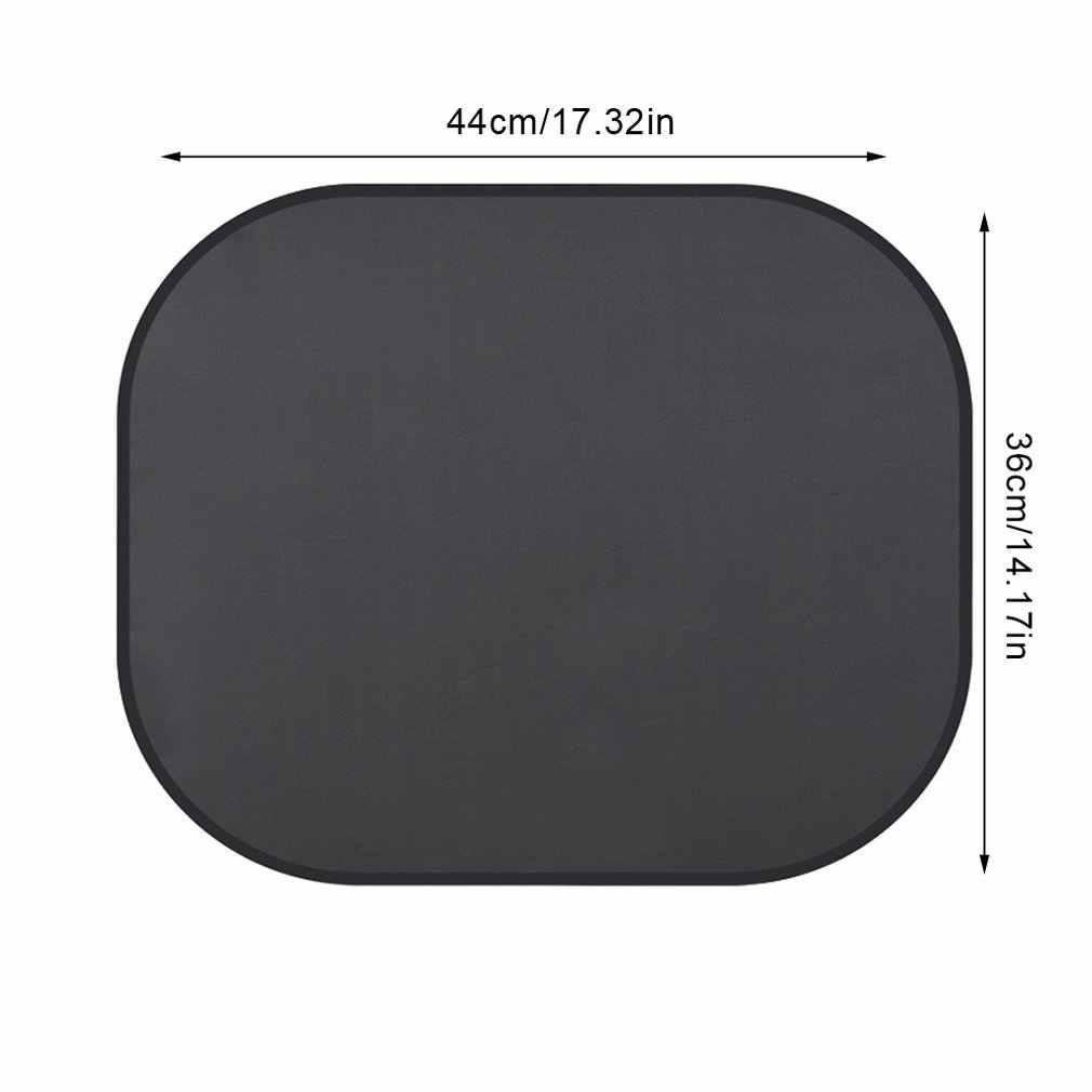 1 คู่สีดำด้านข้างรถ Sun Shade UV ป้องกันรถ Sun Shade กระจกบังแดดผ้าม่านหน้าต่างด้านข้างบังแดด