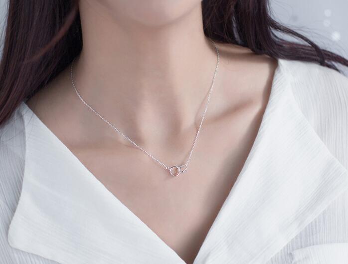 colar de prata têm estilos diferentes escolher frete grátis