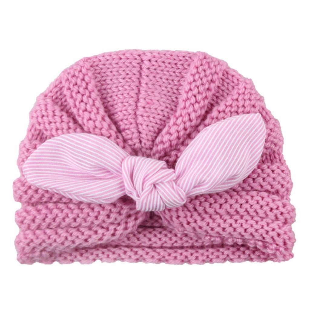 ToVii Gorro Beb/é Recien Nacidos Ni/ños Ni/ñas Sombrero Baby Invierno de Punto Terciopelo Forro Interior C/álido Warm Hat con Orejeras Estampado Animado