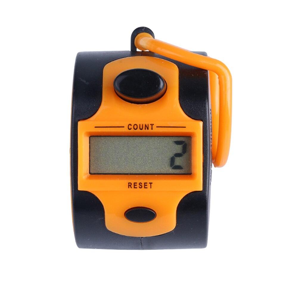 SXH5136 пластиковый электронный 5 цифровой ручной счетчик ЖК-дисплей Электронный кликер легко изменить батарею 7 цветов в наличии