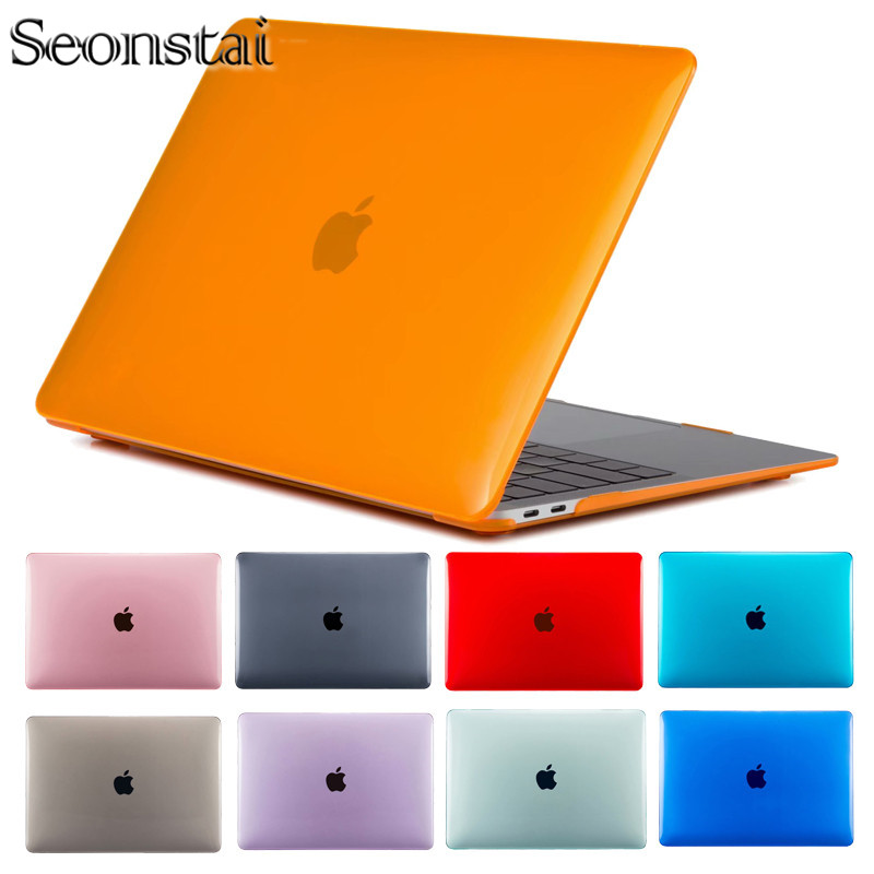 Laptop Case For Apple Macbook Mac Book Air Pro Retina Air 11 Matte/Crystal 12 Cover 2018 New Pro 13 15 Touch Bar A1706 A1707