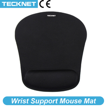 TeckNet Classic Office Mouse Pad Gaming Mouse Mat Pad Ergonomic Mousepad Build in Soft Sponge with Gel Wrist Rest Mice Pad