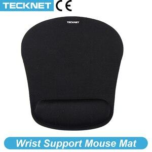Image 1 - TeckNet Classico Ufficio Mouse Pad Mouse Da Gioco Zerbino Pad Ergonomico Mousepad Build in Morbida Spugna con Gel di Resto di Polso mouse Pad