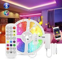 Bluetooth Wand Lichter 10M 15M/Roll RGB Flexible LED-Licht Streifen Wand Lampe 12V Schlafzimmer Decke wand Schrank Decor Innen Beleuchtung