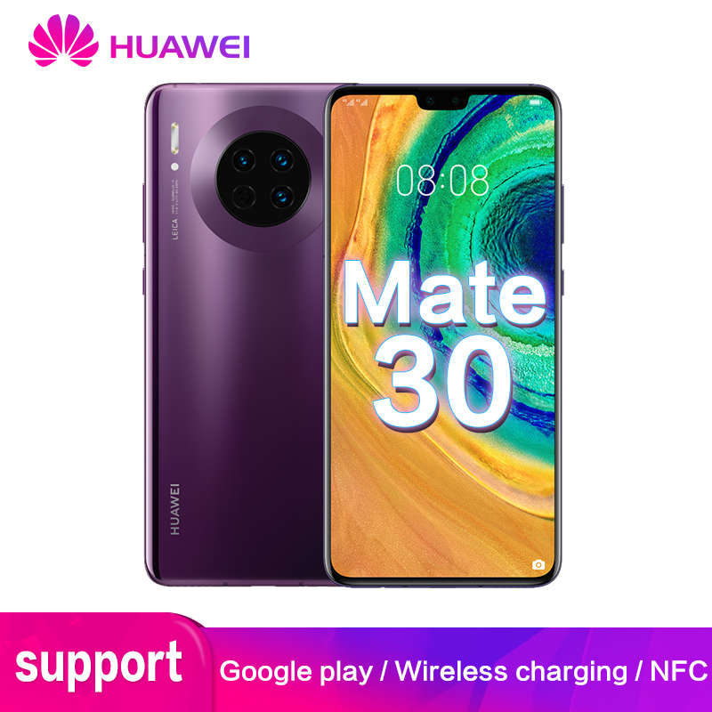 Original Huawei Mate 30 Global ROM Google 8GB 128GB 40MP Mobile Phone Kirin 990 Huawei Mate30 6.62