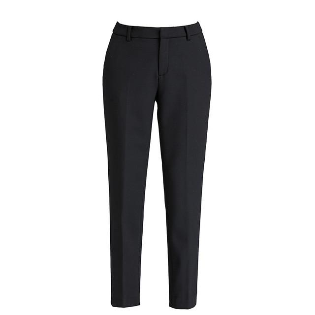 2020 Autumn Winter Middl Aged Women Warm Velvet Elastic Waist Casual Straight Pants Female Trousers 5