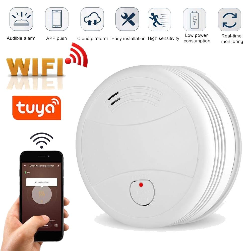 2019 Newest WIFI Smoke Detector Tuya APP Fire Alarm Sensor Independent Smoke Alarm Protection Android