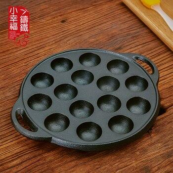 Japanese cast iron pan takoyaki egg mold coating non stick pot stone layer frying pan bean cake meatball food mould thickening