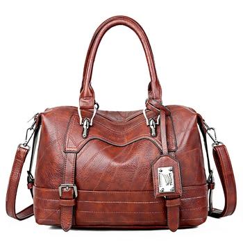 Bolsos de lujo para mujer, bolsos de diseñador de moda Boston, bolso de mano para mujer de piel sintética, bolsos de hombro A la moda para la calle, bolso principal para mujer 2020