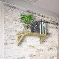 Треугольный угловой кронштейн из сосновой древесины, 2 шт., тяжелая опора, настенный кронштейн для настольной полки, украшение для дома