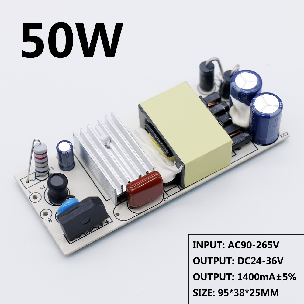 LED Driver 20W 30W 40W 50W DC24-36V Power Supply Constant Current Automatic Voltage Control Lighting Transformers For LED Lights