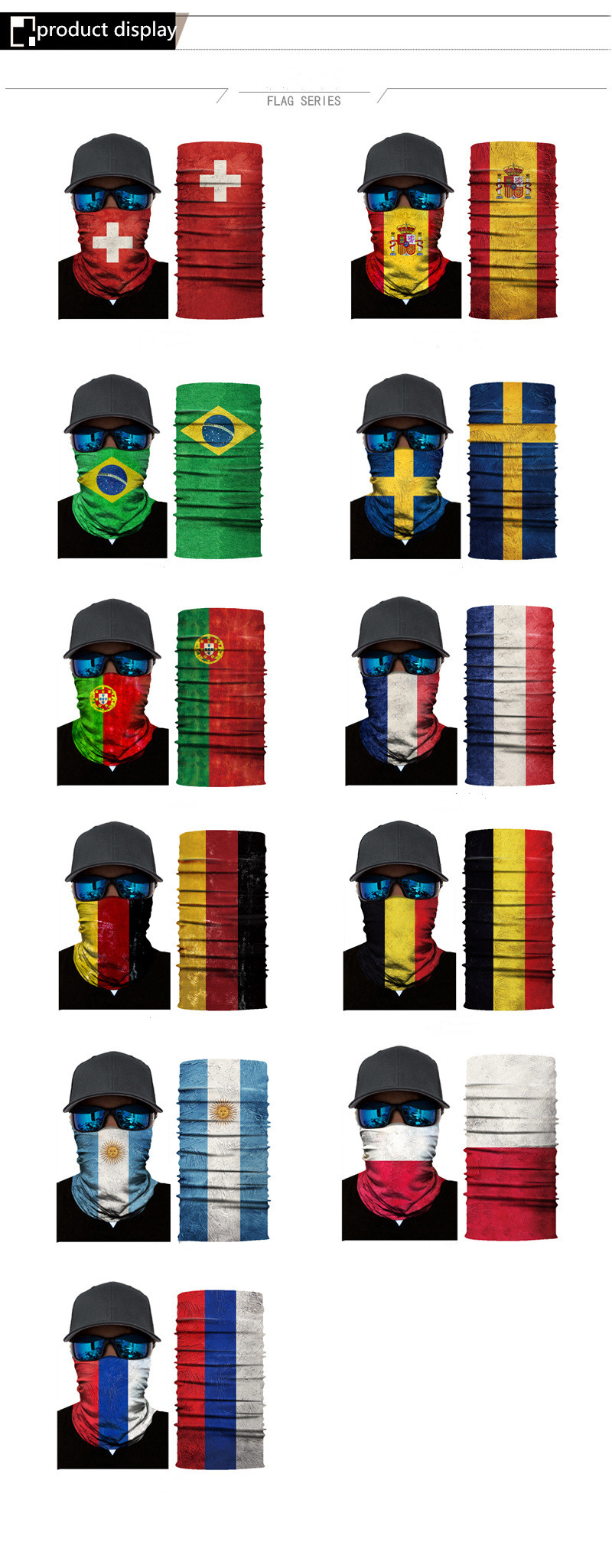 National Flag Seamless Balaclava Scarf 4