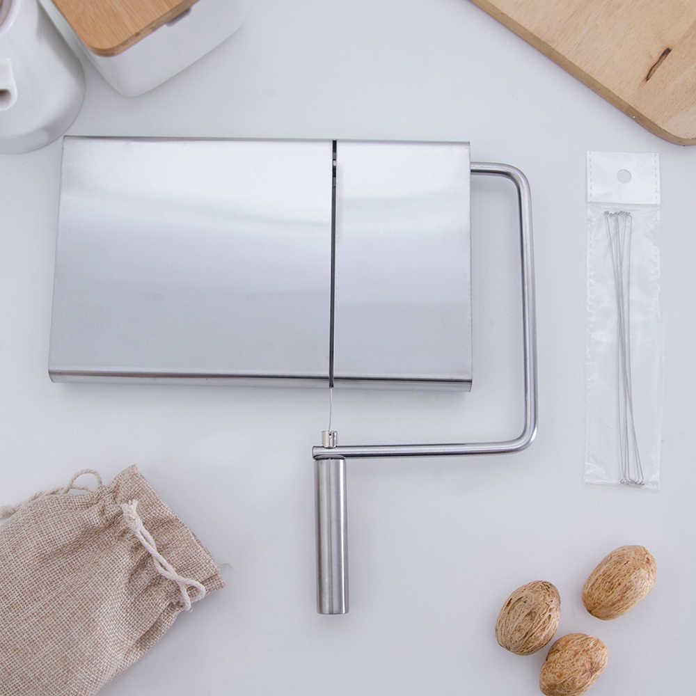 XYJ Cheese Slicer Cutter Stainless Steel Kawat Mentega Alat Menyajikan Papan Keras Semi Hard Keju Mentega Sosis 5 Kabel Termasuk