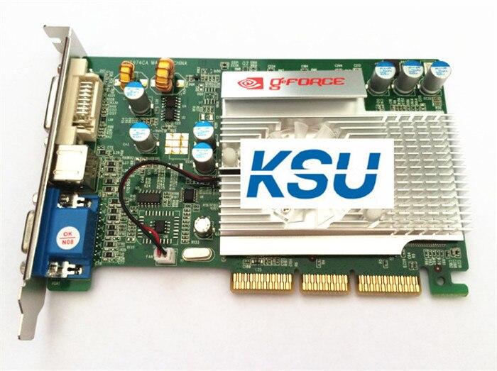 AGP 8X NEW nVIDIA GeForce FX5500 256MB DDR AGP 4X 8X VGA DVI Grpahic Video Card